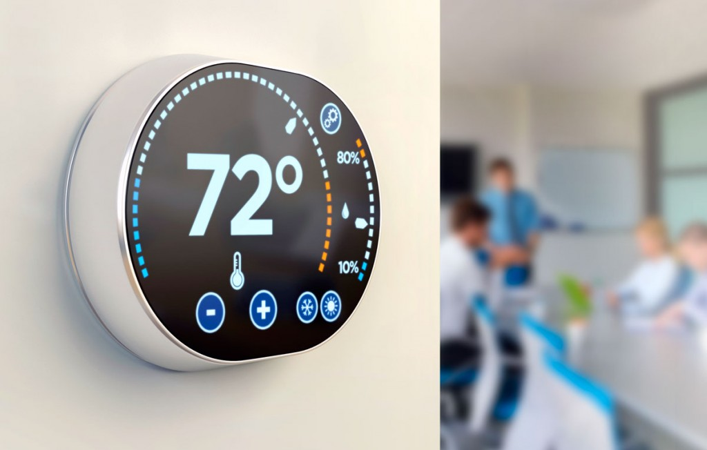 Thermostat-in-office---save-on-commercial-energy-with-encycle-swarm-logic-2